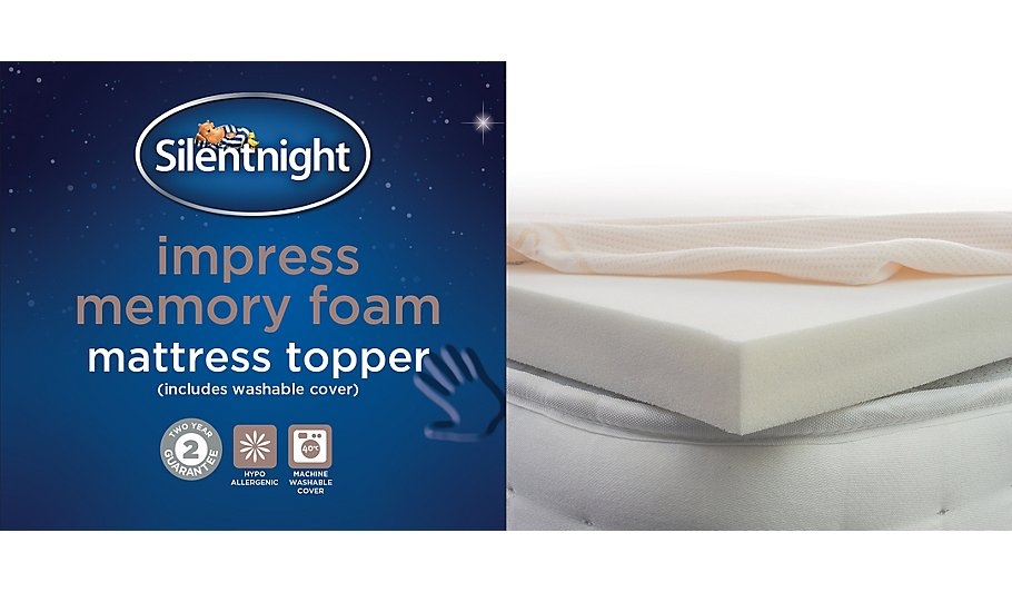 Silentnight Luxury Memory Foam Mattress Topper Sheets Pillowcases George At Asda