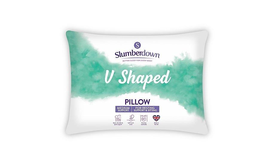 Slumberdown V Shape Pillow Home Amp Garden George