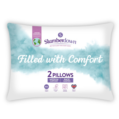 Slumberdown Home Comfort Pillow Pair