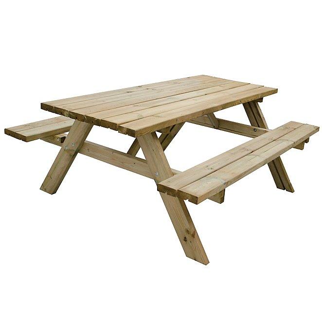 Fantastic Forest Garden Rectangular Picnic Table Large Pabps2019 Chair Design Images Pabps2019Com