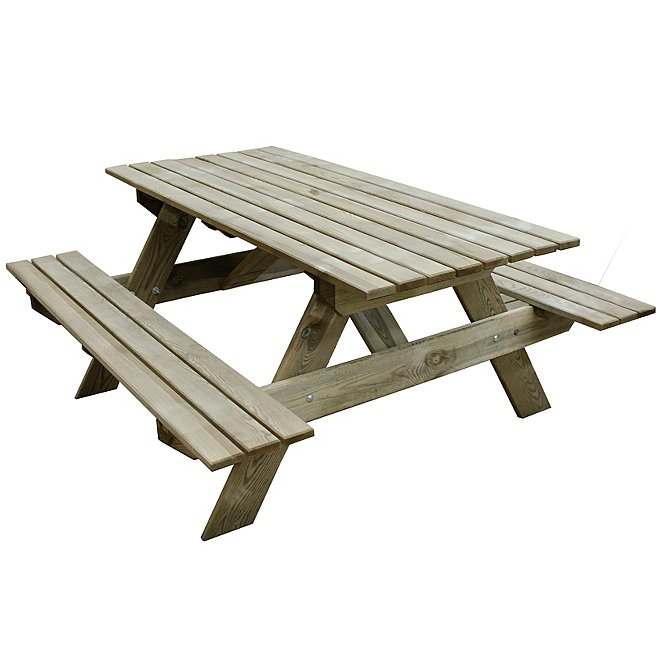 Strange Forest Garden Rectangular Picnic Table Small Pabps2019 Chair Design Images Pabps2019Com