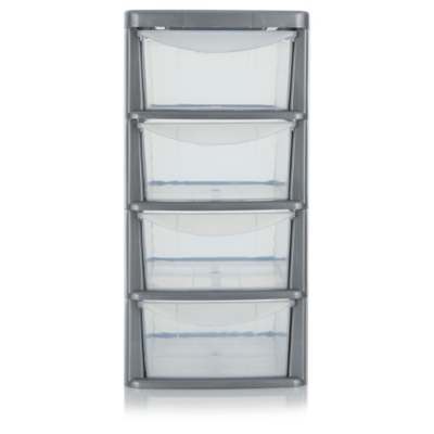Food Storage Containers Asda Part - 39: ASDA Small 4 Drawer Storage Unit