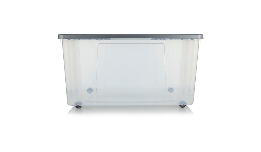 ASDA Clear Wheeled Storage Box - 150L