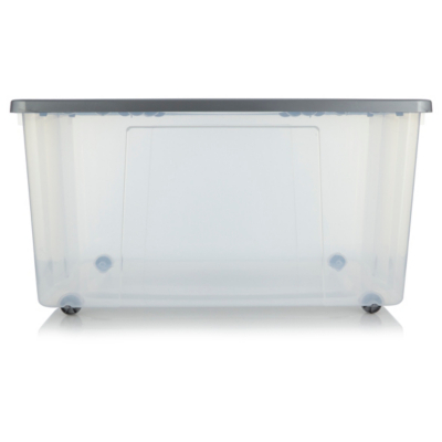 Charmant ASDA Clear Wheeled Storage Box   150L