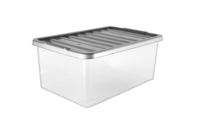 Clear Storage Box And Lid   45L
