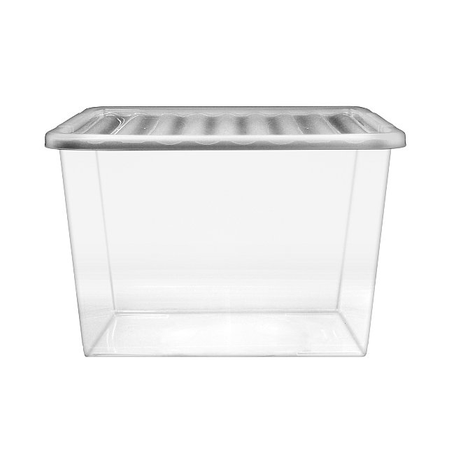 Pleasing Clear 80L Storage Box And Lid Dailytribune Chair Design For Home Dailytribuneorg