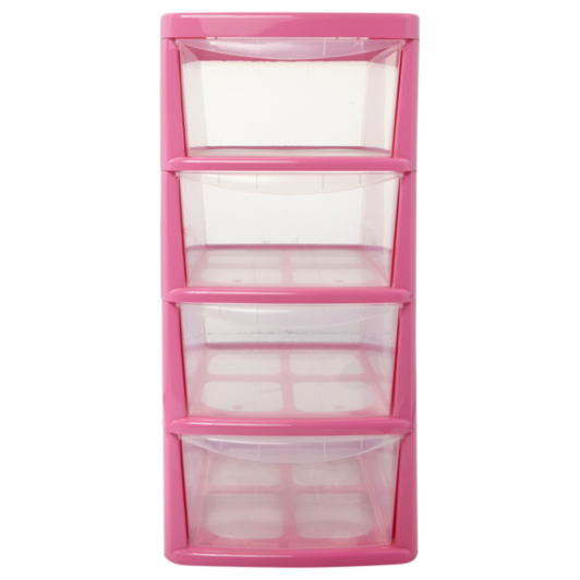 Thumbs Up Pink  Drawer Storage Unit