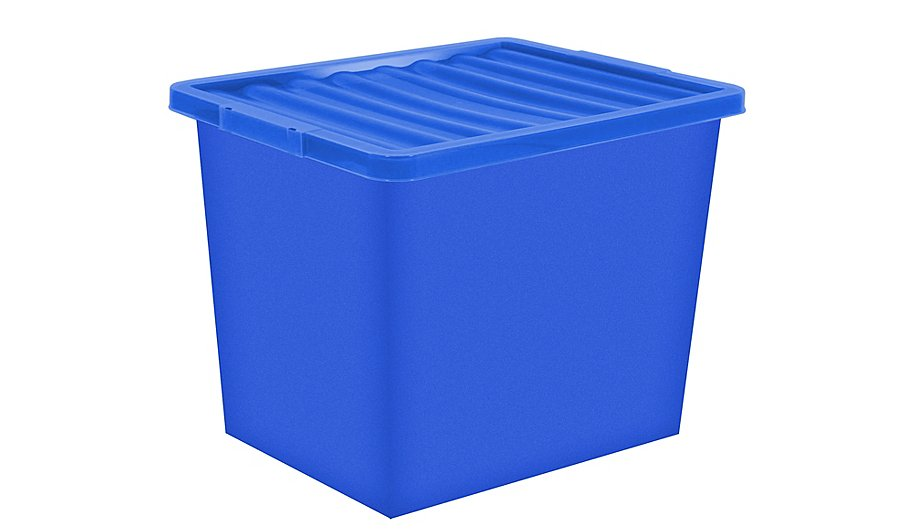 Acrylic Boxes Australia : Litre storage box lid home garden george at asda