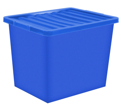 Blue Storage Box u0026 Lid - 80 Litre  sc 1 st  George - Asda & 80 Litre Storage Box u0026 Lid | Home u0026 Garden | George at ASDA