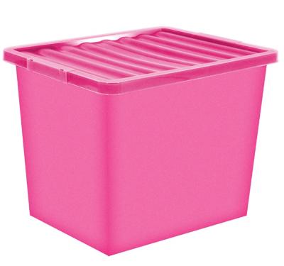 Superbe Pink Storage Box U0026 Lid   80 Litre