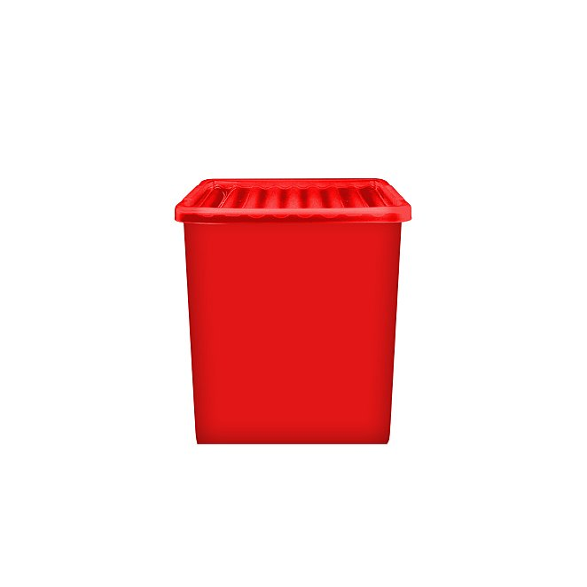 Red Storage Box Lid 55l Home, Extra Long Plastic Storage Boxes