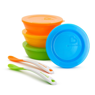 Munchkin Love-a-Bowls 10 Piece Bowl and Spoon Set