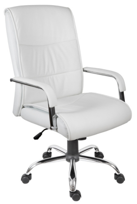 Kendal Faux Leather Executive Chair in White Office Chairs