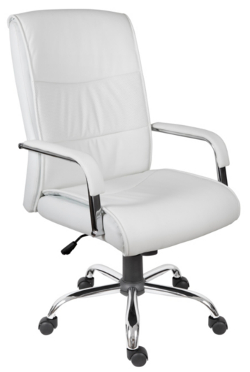 Kendal Faux Leather Executive Chair in White