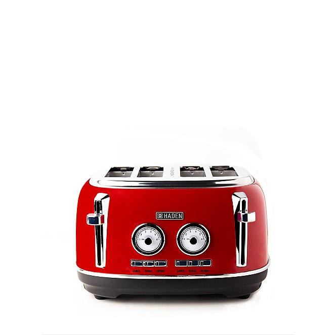 Haden Jersey 4 Slice Toaster - Red
