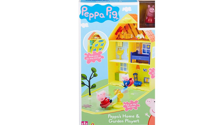 Peppa Pigs House  Garden Playset  Kids  George at ASDA