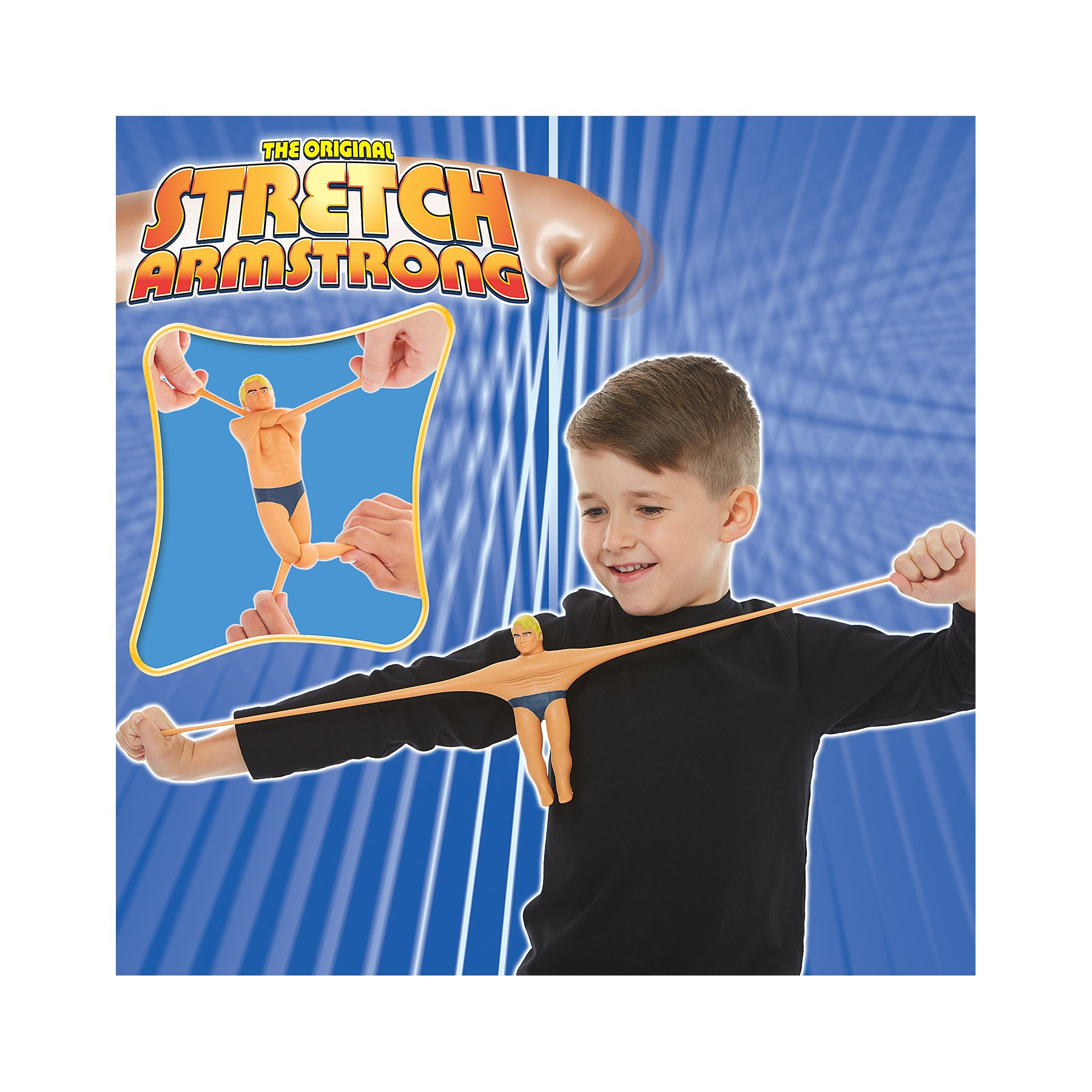 Stretch Armstrong Character Action Figure Goes back to Its Shape 12 Inch Tall