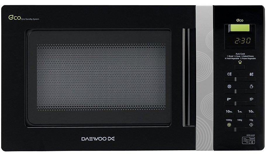 Daewoo KOR6AOR 20L 800W Microwave Oven - Black | Home & Garden ...