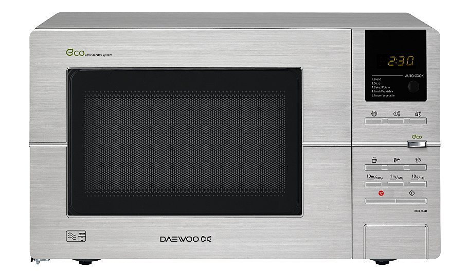 Daewoo Kor6l5r 20l 800w Microwave Oven Silver Home Garden George At Asda