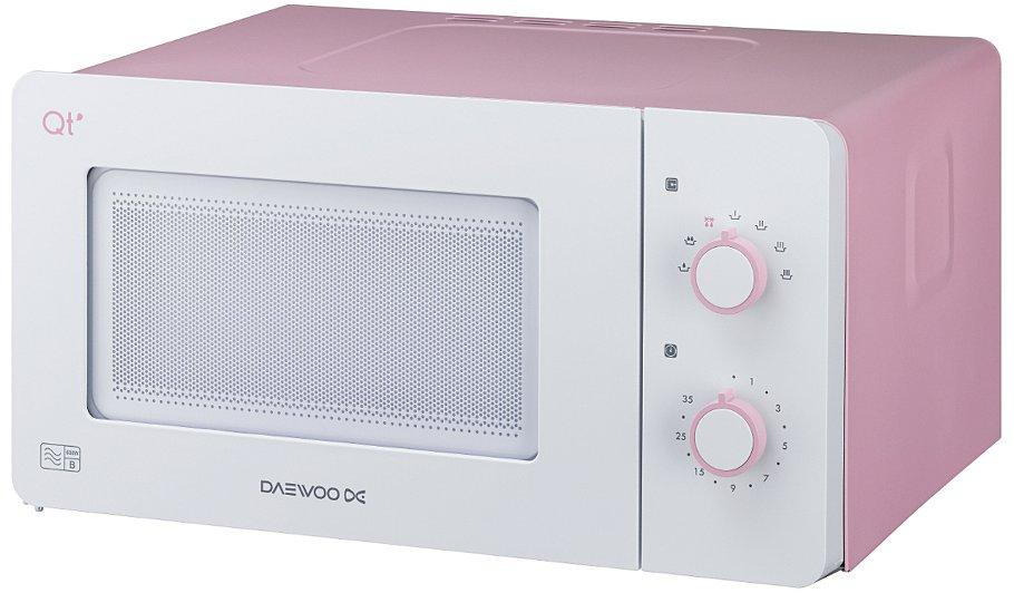 Daewoo Qt3 14l 600w Microwave Oven Pink