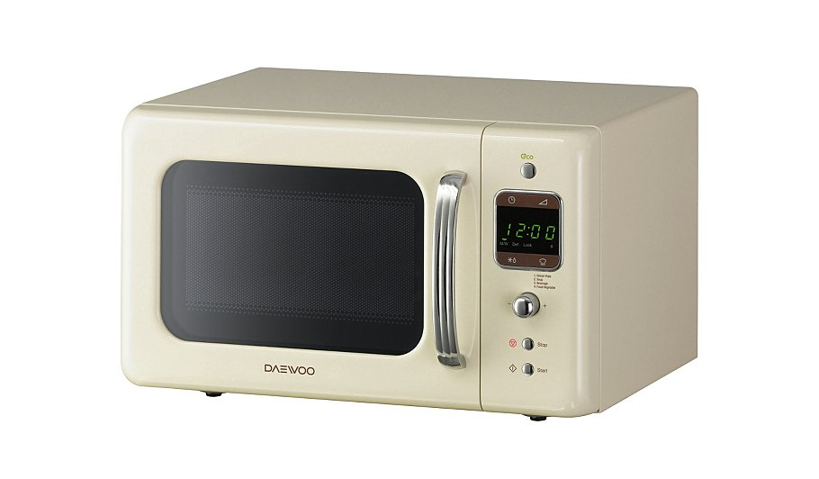 Daewoo Retro Microwave - Cream | Home & Garden | George