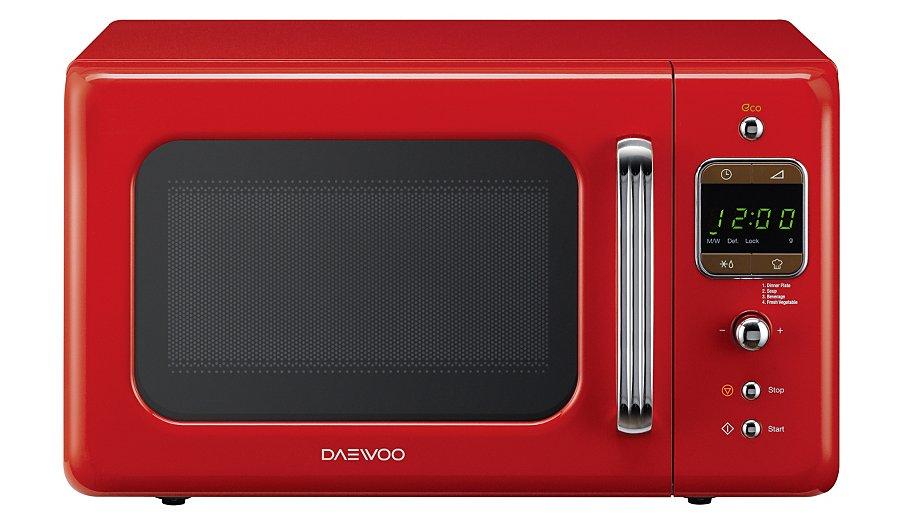 Daewoo Retro 20l 800w Microwave Red
