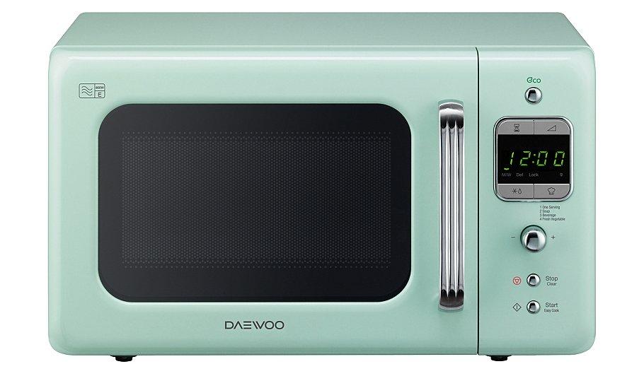 Daewoo Retro Microwave Cream Home Garden George