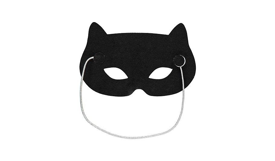 Halloween Glittery Cat Mask Fancy Dress George