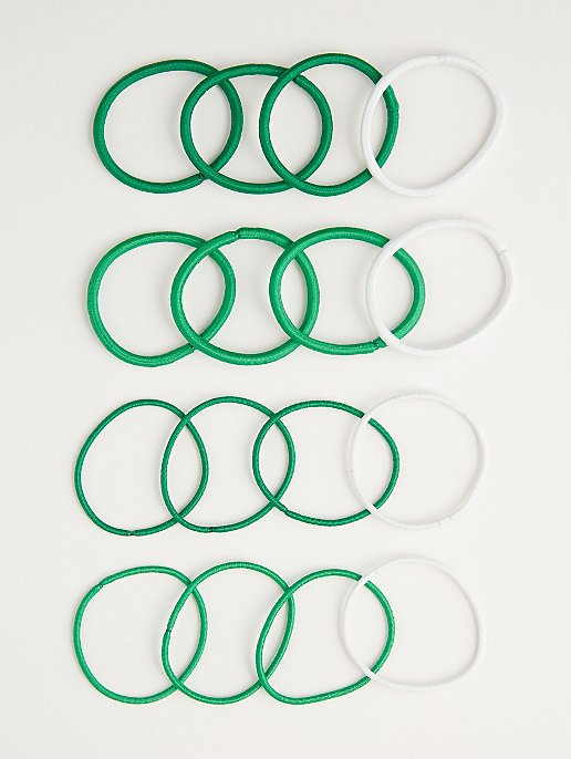 Green Assorted Hair Bobbles 16 Pack. Reset b70b2fbac67