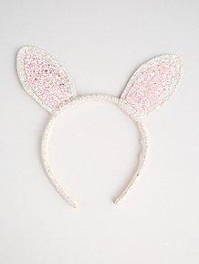 81da362ba2d Pink Glittering Bunny Rabbit Ears Headband