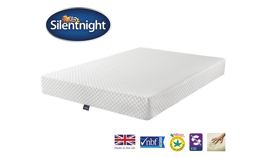 Silentnight 7 zone memory foam mattress double mattresses george at asda Double mattress memory foam