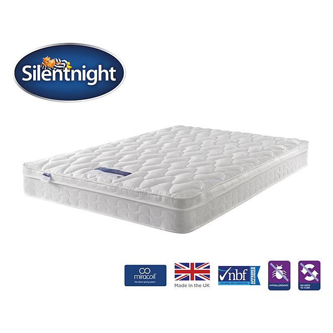 Silentnight Miracoil Cushion Top Mattress Single