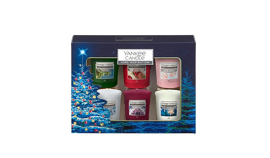 yankee candle home inspiration 6 votive christmas gift set
