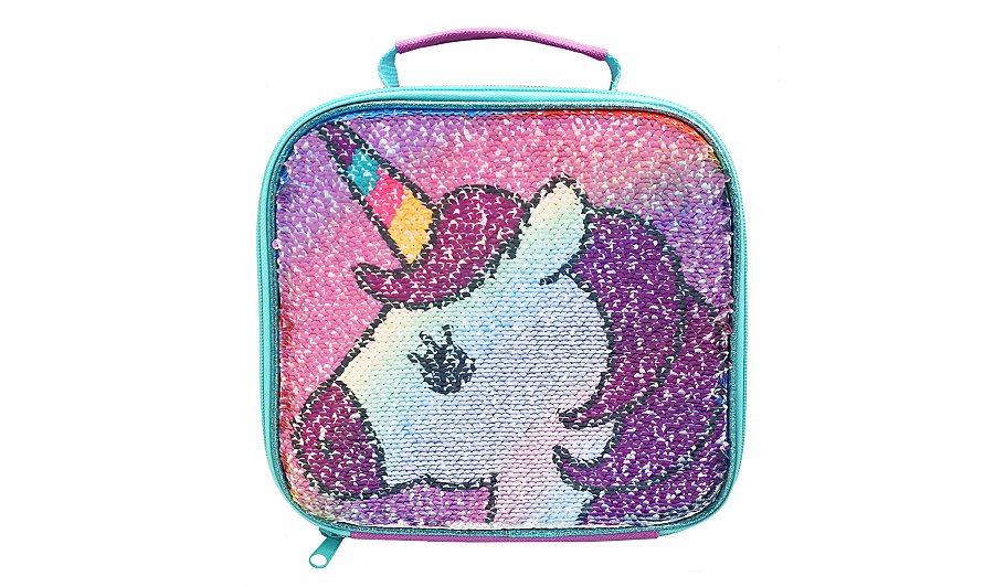 polar gear unicorn sequin lunch bag home garden george. Black Bedroom Furniture Sets. Home Design Ideas