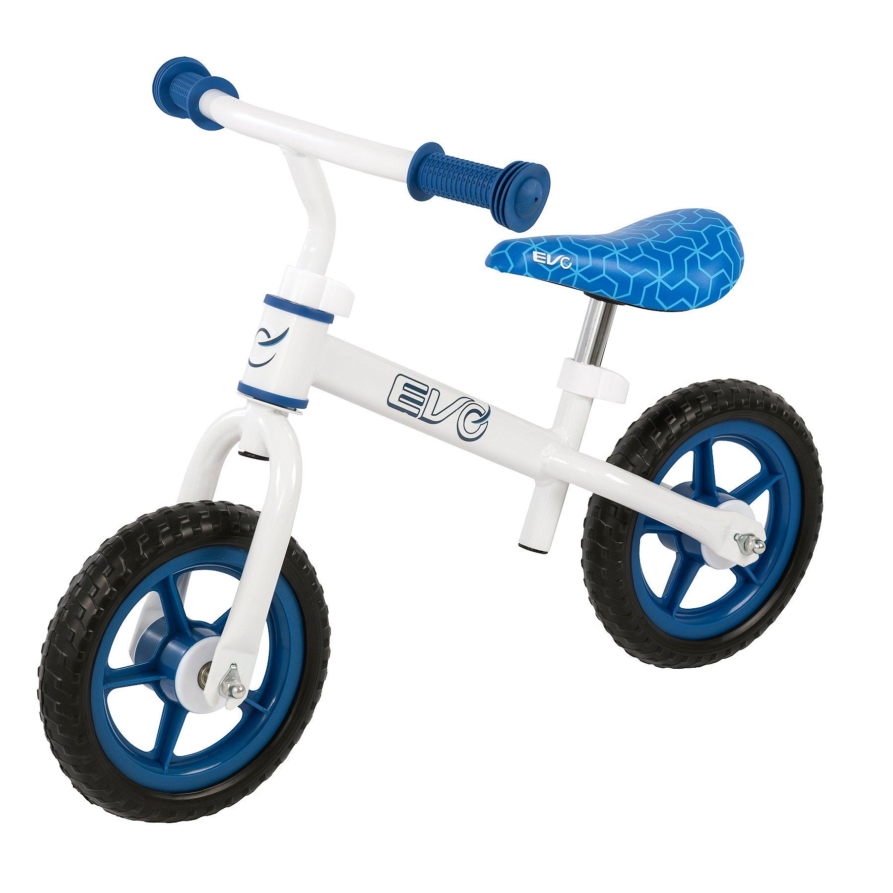 Easy learning Balance Bike BLUE Wide Wheels Adjustable height