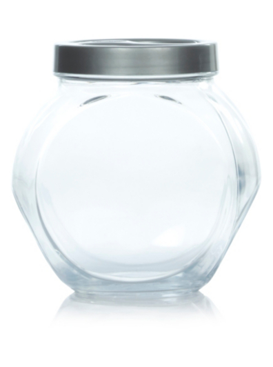 George Home Glass Storage Jar with Screw Lid Home Garden