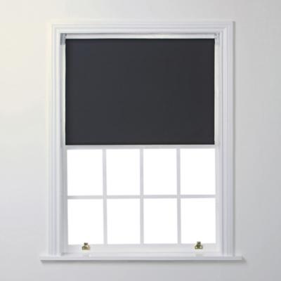 Blackout Roller Blind Black Home George
