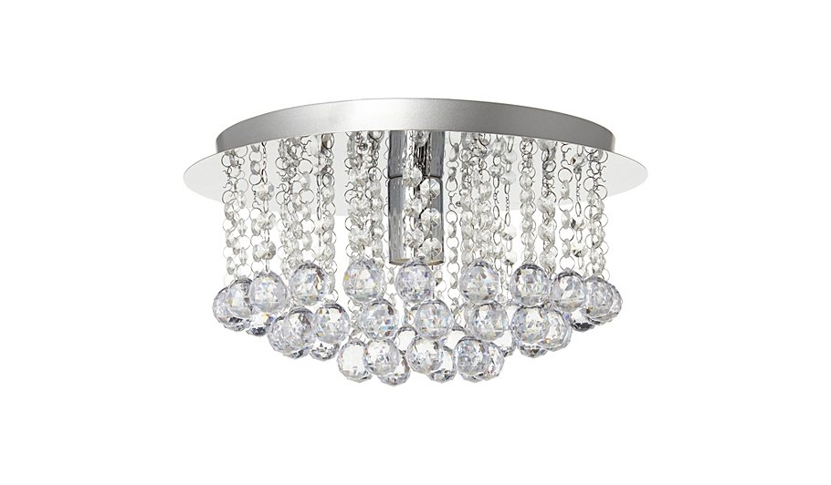 George home faux crystal ball ceiling light fitting home faux crystal ball ceiling light fitting mozeypictures Images