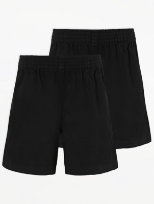 Black School Rugby Shorts 2 Pack