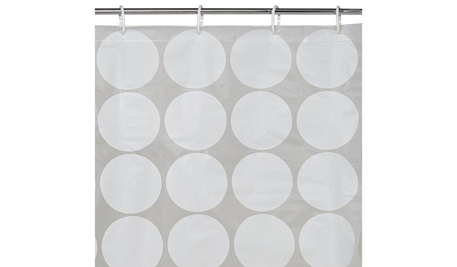 George Home White Circle Shower Curtain | Clearance | George at ASDA