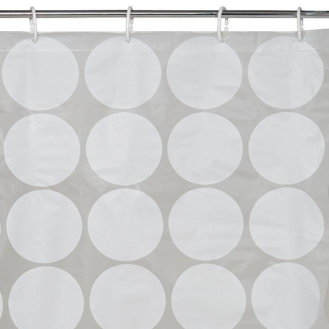White Circle Shower Curtain Reset