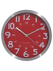 Red Metallic Clock