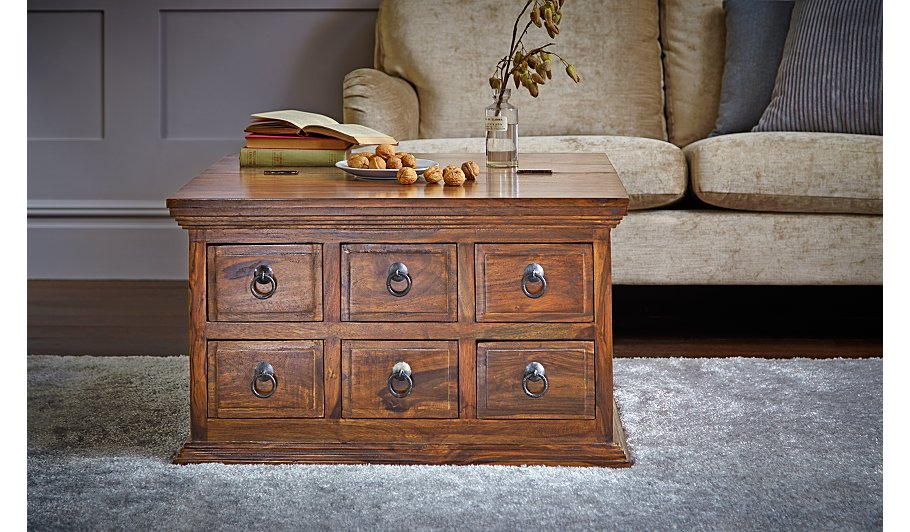 Indore Coffee Table With 6 Drawers