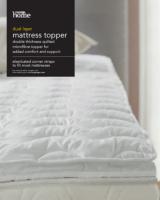 Dual Layer Mattress Topper | Sheets & Pillowcases | George at ASDA