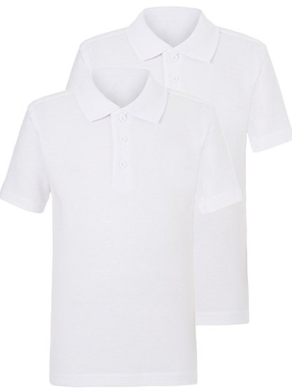 Stay White Polo Shirts White 2 3 Years School