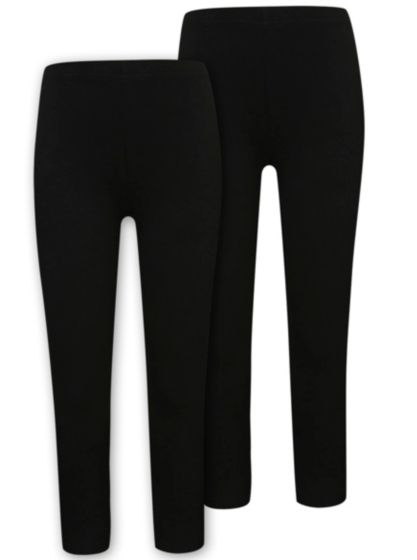 2 Pack Black Leggings | Girls | George at ASDA