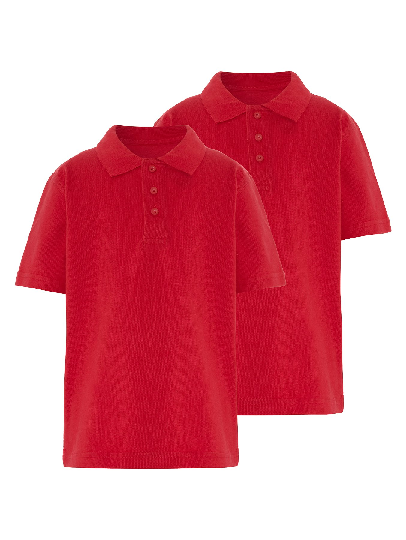 6e330628c53aa School 2 Pack Polo Shirts - Red