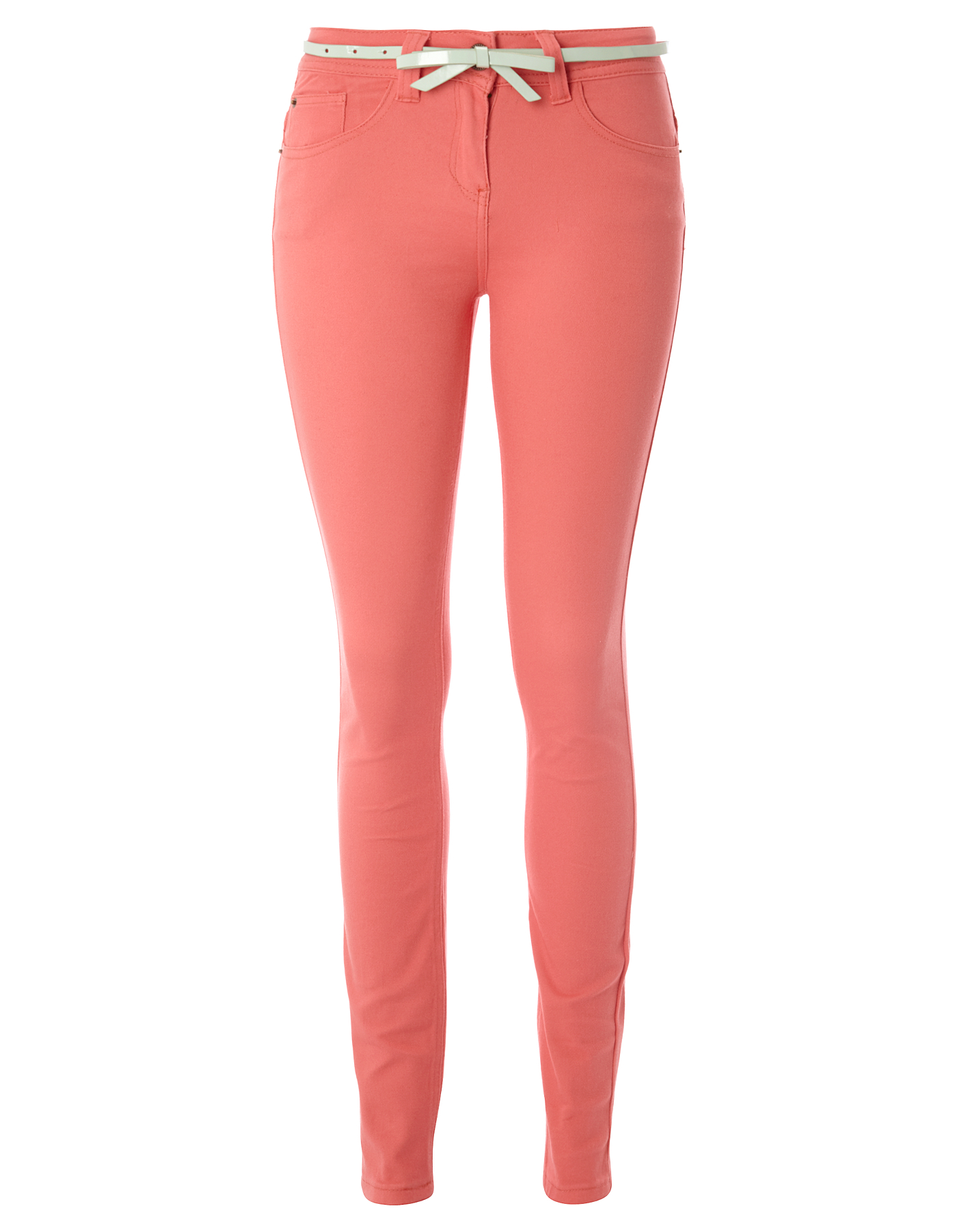 G21 Super Skinny Coloured Jeans - Coral £14.00 George at Asda
