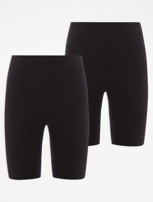 Girls Black School Cycling Shorts 2 Pack