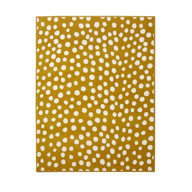Yellow Polka Dot Rug Home George